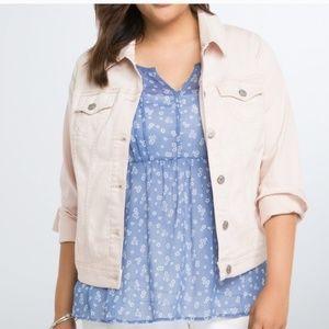 Torrid pink denim jacket